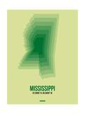 Mississippi Radiant Map 3 Posters by  NaxArt