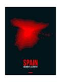 Spain Radiant Map 1 Prints by  NaxArt