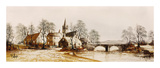 Hamlet Bridge Premium Giclee Print by Ron Folland