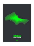 Honolulu Radiant Map 1 Posters by  NaxArt