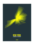 New York Radiant Map 1 Prints by  NaxArt