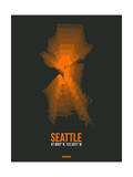 Seattle Radiant Map 3 Posters by  NaxArt