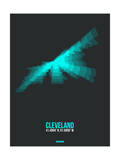 Cleveland Radiant Map 2 Poster by  NaxArt
