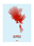 Los Angeles Radiant Map 7 Prints by  NaxArt