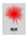 Milan Radiant Map 1 Prints by  NaxArt