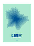 Budapest Radiant Map 5 Posters by  NaxArt