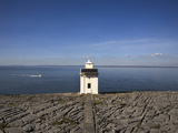 Light Beacon Overlooking Galway Bay, the Burren, County Clare, Ireland Photographic Print by Green Light Collection