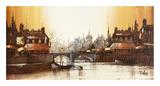 Canal de Paris Premium Giclee Print by Ron Folland