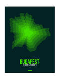 Budapest Radiant Map 2 Prints by  NaxArt