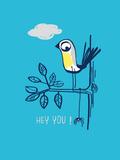 Hey You! Giclee Print by Laure Girardin-Vissian