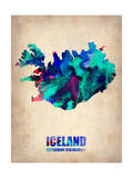 Iceland Watercolor Poster Print by  NaxArt