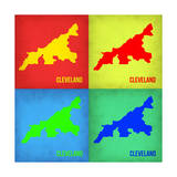 Cleveland Pop Art Map 1 Prints by  NaxArt