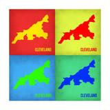 Cleveland Pop Art Map 1 Prints by  NaxArt