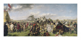 Derby Day - Coloured Version Premium Giclee Print by William Frith