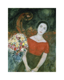 Portrait of Vava Premium Giclee Print by Marc Chagall