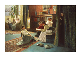 Reading in the Afternoon Premium Giclee Print by Gustave De Jonghe