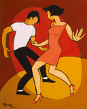 Let's Twist Again Giclee Print by Marsha Hammel