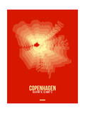Copenhagen Radiant Map 4 Poster by  NaxArt