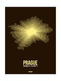 Prague Radiant Map 1 Poster by  NaxArt