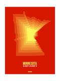 Minnesota Radiant Map 2 Prints by  NaxArt