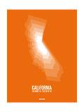 California Radiant Map 7 Posters by  NaxArt