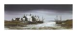 Moonlit Estuary Premium Giclee Print by Ron Folland
