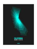 California Radiant Map 3 Print by  NaxArt