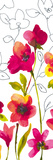 Croquis Floral I Giclee Print by Sandra Jacobs
