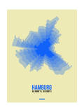 Hamburg Radiant Map 2 Posters by  NaxArt