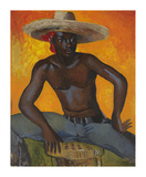 Man in a Straw Hat II Premium Giclee Print by Boscoe Holder