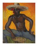 Man in a Straw Hat II Premium Giclee Print by Boscoe Holder