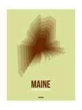 Maine Radiant Map 2 Posters by  NaxArt