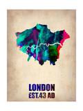 London Watercolor Poster Prints by  NaxArt