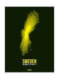 Sweden Radiant Map 3 Prints by  NaxArt