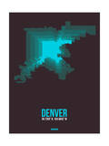 Denver Radiant Map 4 Posters by  NaxArt