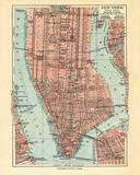 Vintage New York Map Poster