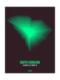 South Carolina Radiant Map 6 Prints by  NaxArt
