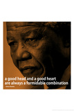 Nelson Mandela Quote iNspire 2 Motivational Plastic Sign Plastic Sign