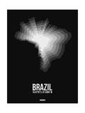 Brazil Radiant Map 4 Prints by  NaxArt