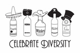 Celebrate Diversity Snorg Tees Plastic Sign Plastic Sign