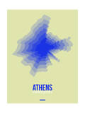 Athens Radiant Map 4 Prints by  NaxArt