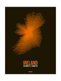Ireland Radiant Map 3 Poster by  NaxArt