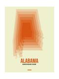 Alabama Radiant Map 1 Prints by  NaxArt