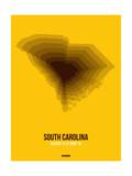 South Carolina Radiant Map 3 Posters by  NaxArt