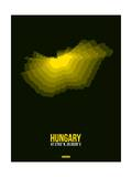 Hungary Radiant Map 2 Posters by  NaxArt