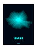 Romania Radiant Map 3 Posters by  NaxArt