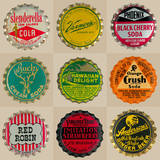 Pop Bottletops II Prints by  The Vintage Collection