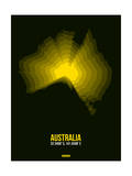 Australia Radiant Map 3 Posters by  NaxArt