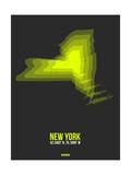New York Radiant Map 6 Prints by  NaxArt