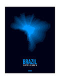 Brazil Radiant Map 3 Posters by  NaxArt
